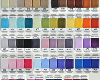 Satin Swatch Sheet..Pick 8 colors
