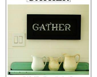 Farmhouse Gather Stencil Home Decor Vintage Sign Stencils