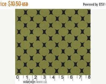SALE 30% Off - ATOMIC DOT in Olive - Mid Century Modern - Michael Miller Fabric - By the Yard