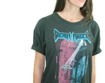 Vintage DEATH ANGEL Shirt 1990 Concert Shirt Band Tee Heavy Metal Metallica Shirt Venom shirt Iron Maiden shirt Slayer shirt  Xl