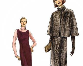 Vogue V8109 Sewing Pattern for Misses' or Misses' Petite Capelet and Jumper - Uncut - Size 14, 16, 18, 20