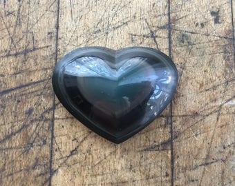 Rainbow Obsidian Heart Cabochon