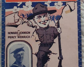 1917 WWI Where Do We Go From Here Howard Johnson Percy Wenrich Song Book Sheet Music