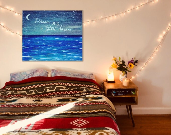 Customized Moonlit Painting on Large Canvas