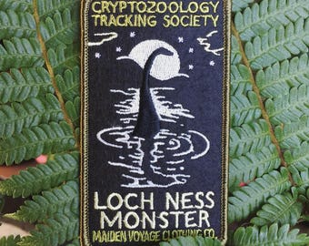 Cryptozoology Tracking Society: LOCH NESS Monster Patch (Glow in the Dark)