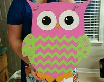 UNFINISHED Wooden Owl - Unfinished Wood - Unpainted -  Decor - Class Room
