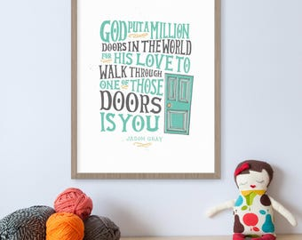His Love, Christian Song Lyrics, Song Lyric Print, Christian Encouragement Gift, Christian Wall Art, You Are Special Art, Inspirational Art
