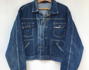 Vintage 50s / 60s Distressed Gauchos Denim Jean Jacket L