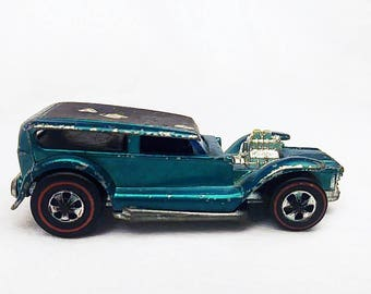 1967 Hot Wheel Car, Demon, Collectible, Die Cast Metal, Aqua, Toy Car