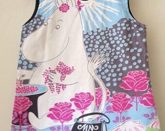 BLUE MOOMIN Fabric Pinafore Dress Age 5-6