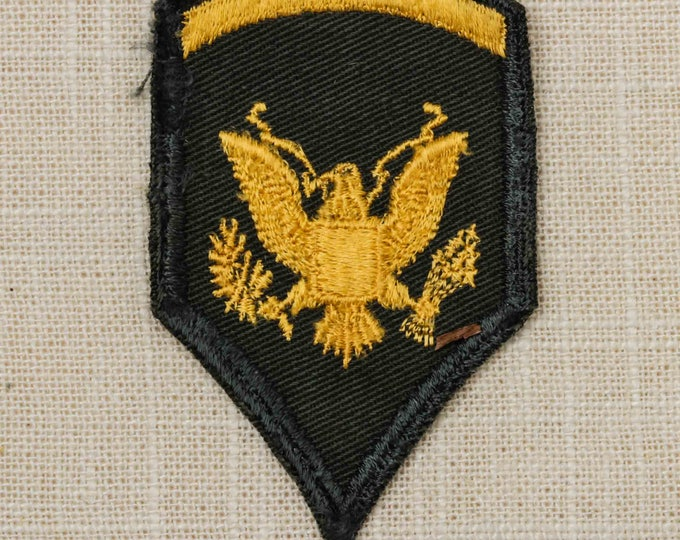 US Army Specialist Second Class Vintage Patch Green Gold E-5 Vietnam Era Uniform Sew on 7Z