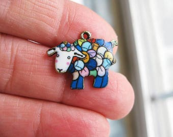 5 Colorful Sheep Charms - C2614