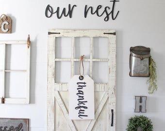 Thankful Door Sign
