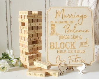 Wedding Game Wedding Guest Book Tumbling Blocks Building Memories Game Guestbook Blocks Custom Bridal Shower Game Advice For The Bride Game