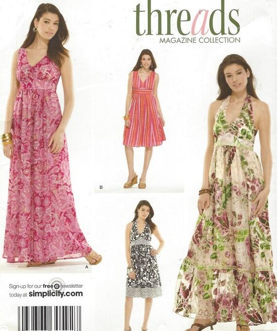 Threads Magazine Womens Boho Dress Halter or Straps Two