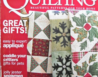McCall's Quilting Magazine, December 2006 Issue