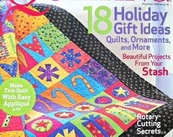 American Patchwork and Quilting Magazine December 2006, Issue 83, Quilt Patterns Holiday Gift Ideas