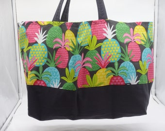 Pineapple Bag, Pineapple Tote Bag, Pineapple Day Bag, Pineapple Tote, Gifts Under 20, Summer Fun Tote