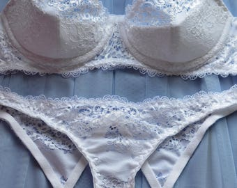 Women Sleepwear & Intimates Panties Handmade Hearts and Bows Lingerie The Lacey  Bridal Ouvert Crotchless Bow Panties Made to Order