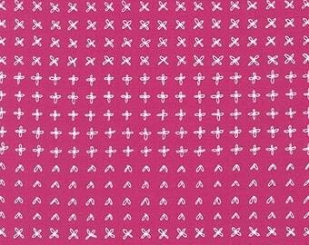 Blueberry Park Sprouting Row in Valentine, Karen Lewis Textiles, Robert Kaufman Fabrics, 100% Cotton Fabric, AWI-15752-343 VALENTINE