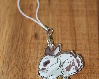 Spotted Bunny Rabbit - Original Phone Charm