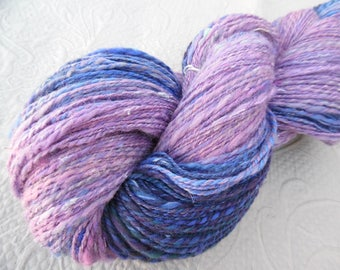 "Handspun Yarn, ""Lavender Field"" gradient, 8.1 oz, 656 yds"