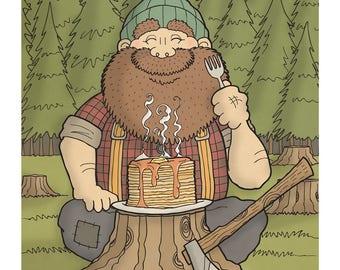 Lumberjack - Illustration Art Print