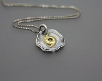 Hurricane Necklace, Hurricane Pendant, Hurricane Jewelry, Katrina Necklace, Gold Hurricane, Silver Hurricane, Tornado Jewelry, Nola, Weather