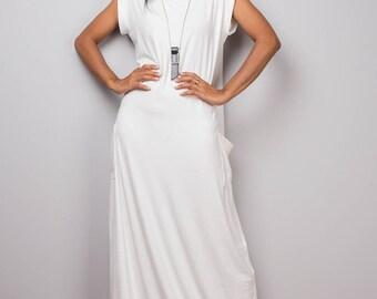 White dress, off white maxi dress, T shirt dress, turtleneck dress, tube dress, long white dress : Urban Chic Collection No.34