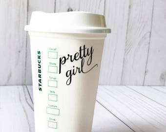 Starbucks Personalized Front and Back Coffee Cups