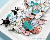 Enamel pin sale - blemish, Cactus Otter Bat Bunny Cat Shark Rainbow Cloud backpack pin, Cute animal gift, Lapel pin jacket pin, Flat Bonnie
