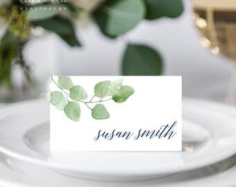 Place Cards/Reception Cards/Escort Cards - Eucalyptus (Style 13658)