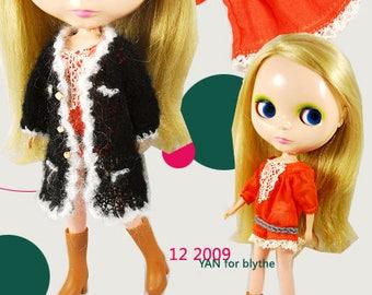 Clearance Sale - YAN - Black color Cardigan for Blythe doll