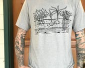 Veggie Garden T-Shirt - Unisex Tri Blend - XS, S, M, L, XL, 2X, 3X - gardening, root veggies, homestead, garlic, carrots, farm