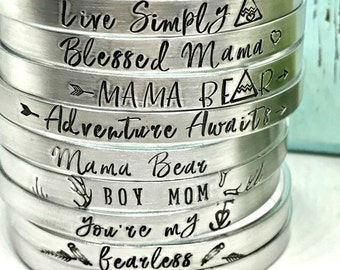 Quote Jewelry - Trendy Cuff Bracelets  - Christmas Gift for Her - The Charmed Wife - Christmas Gifts - Inspirational Bracelets - Gift Ideas
