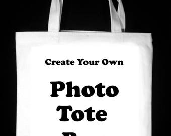 """Create Your Own 13"""" x 13""""  Photo Tote Bag"""