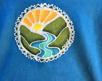 Batik T shirt, Large,double sided design