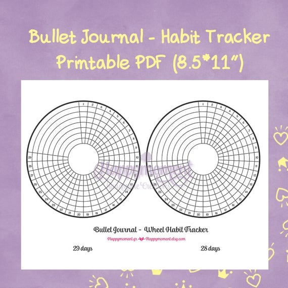 Comprehensive image throughout bullet journal habit tracker printable