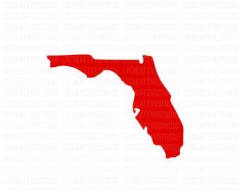 Florida SVG, Florida State SVG, Florida Silhouette SVG, Silhouette Files, Cricut Files