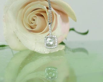 Herkimer Diamond Pendant, Unique Pendant For Her, Custom Birthstone Pendant, Diamond Alternative, Conflict Free Jewelry, United States Gem