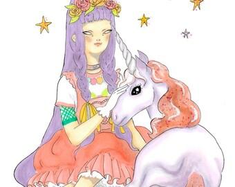 Unicorn Princess - print