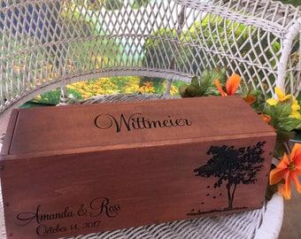 Wine Box, Gift for Newlyweds, Bride and Groom Gift, Anniversary Gift, Housewarming Gift, Wedding Wine Box, Rustic Weddings, Love Letter Box