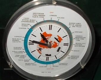 Vintage Clock Allied Van Lines Advertising Clock Desk Clock Vintage Lord King Clock D Battery Clock Made In Japan Seiko Clock Working Clock