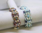 PDF Tutorial - Deepika Carrier Beads bracelet Beading Instruction Beadweaving Pattern Tutorial