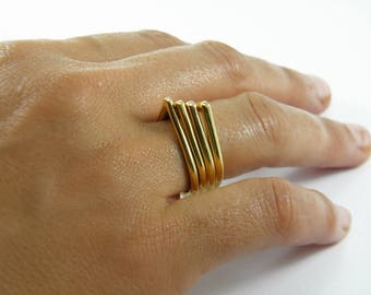 Geometric stacking ring Triangle ring Stacking ring set Stackable rings