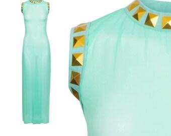 Royal Sheer Mesh Dress