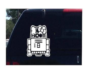 R2D2 Hello Kitty Star Wars Car Decal