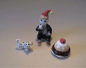 Vintage 1960's miniature bone china nursery rhyme Little Jack Horner