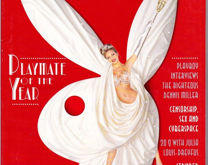 Vintage Playboy Magazine June 1996, Playmate Of The Year, Dennis Miller, Cyberspace, Censorship, Julia Louis-Drevfus, Seinfield, SNL
