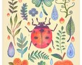 Et coloris natura II - A4 art print
